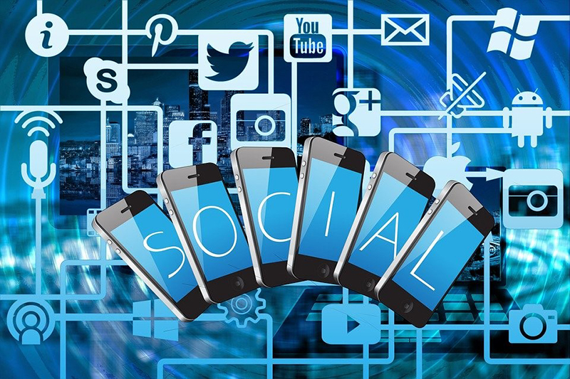 Illustrations of social media