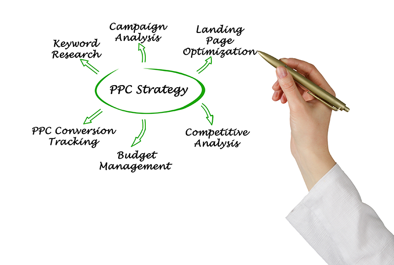 Person  showing PPC strategy on white board